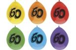 Ballon 6 stk. Tal  60 , ass. farver