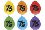Ballon 6 stk. Tal  75 , ass. farver